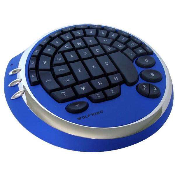 Blue circular keyboard