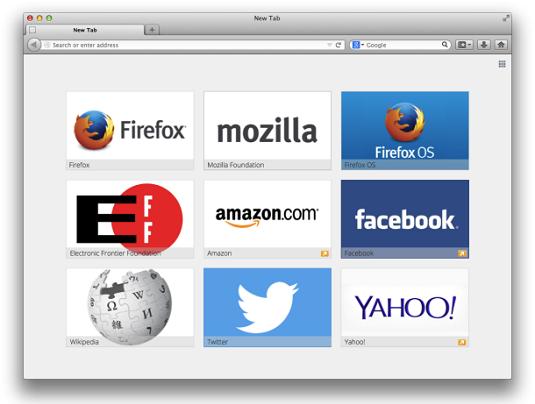 Firefox advertisements