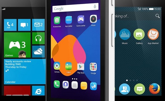 You choose Android, Firefox or Windows Phone