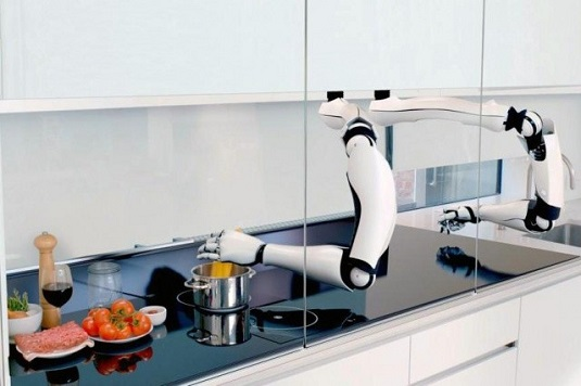 Robot Chef being efficient
