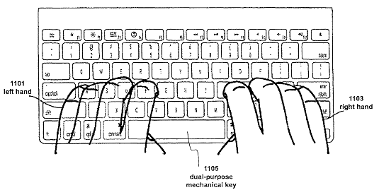 Drawing of the keyboard patent