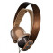 Exodus On-Ear Headphones in a beech wooden structure