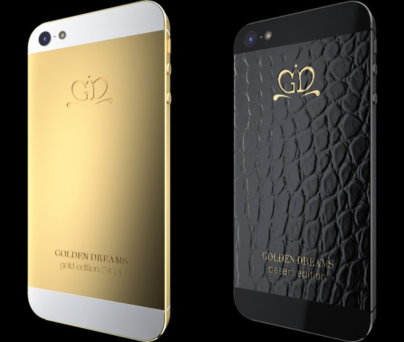 Gold and Leather covers for iPhone 5