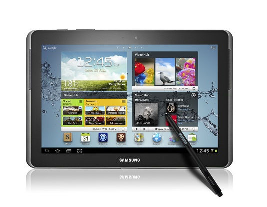 Samsung Galaxy Note 10.1 front
