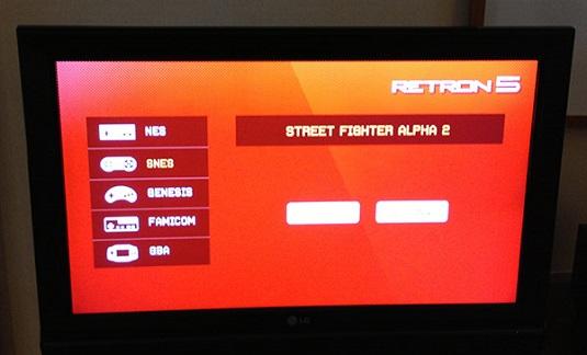 Retron 5 screen