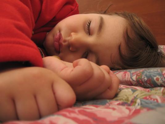 A_child_sleeping